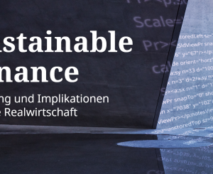 Flyer zu Sustainable Finance Event von SIX und economiesuisse