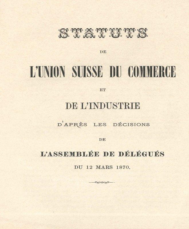 La couverture des statuts