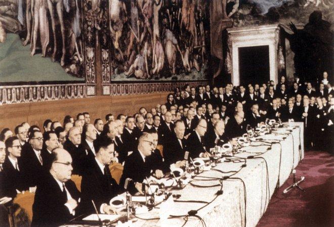Bild Unterzeichnung Römische Verträge